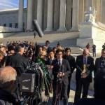 The Slants' Simon Tam outside Supreme Court