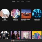 YouTube music web player