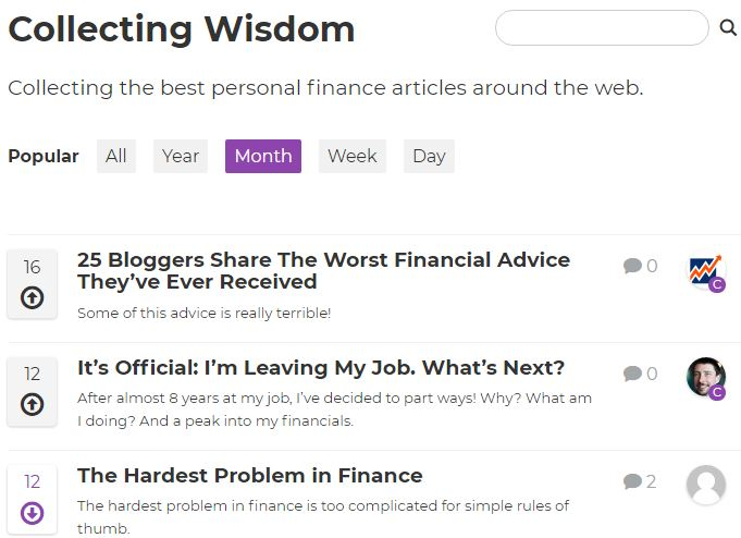 Collecting Wisdom home page