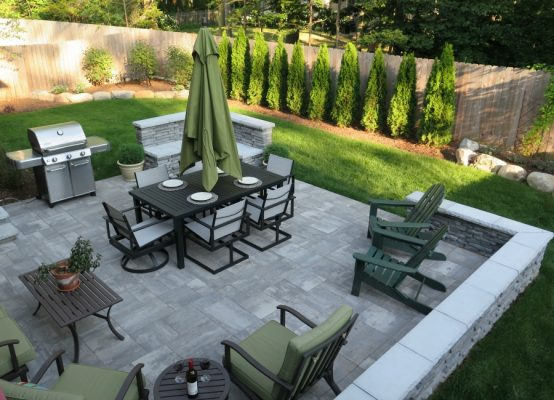 Custom Patio Design » Four Seasons Garden Center on Backyard Patio Layout id=95316