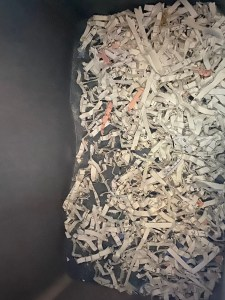 Shredder paper for recycling or composting