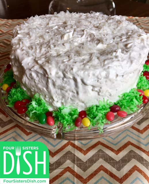 Sour Cream Coconut Cake With Cake Mix