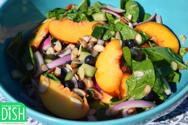 Just Peachy Honey-Lime Salad