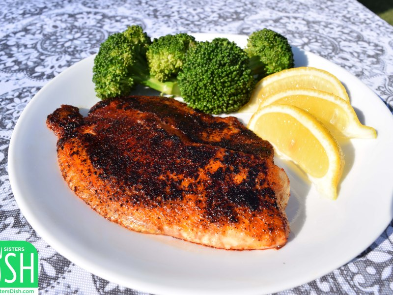 Smoky Blackened Tilapia