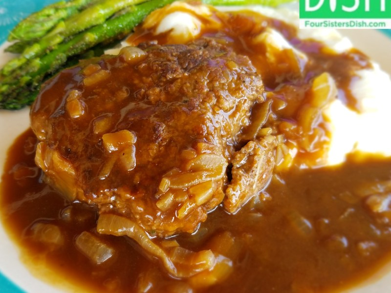 Hamburger Steak with Caramelized Onion Gravy