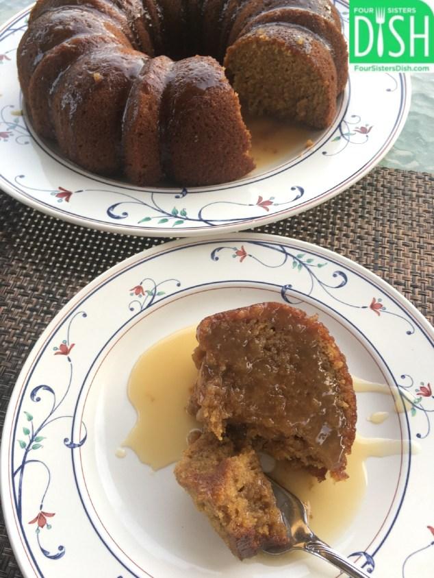 Butternut Cake with Bourbon Sauce