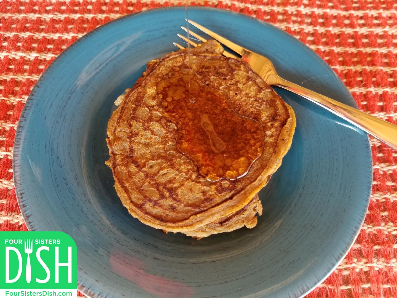 Pumpkin Spice Greek Yogurt Pancakes