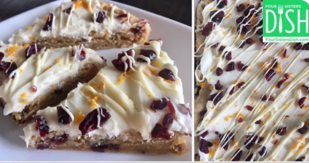 Orange Cranberry White Chocolate Bars