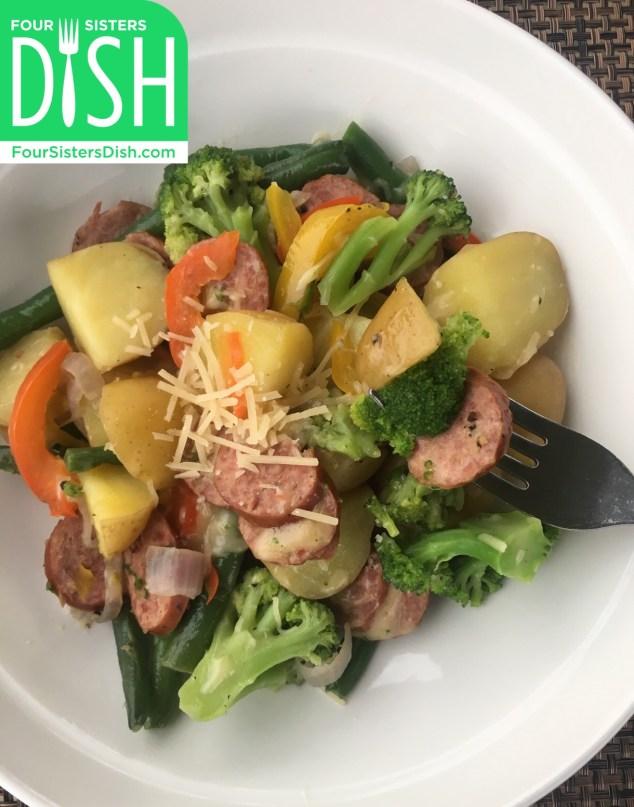 Skillet Dinner with Turkey Sausage