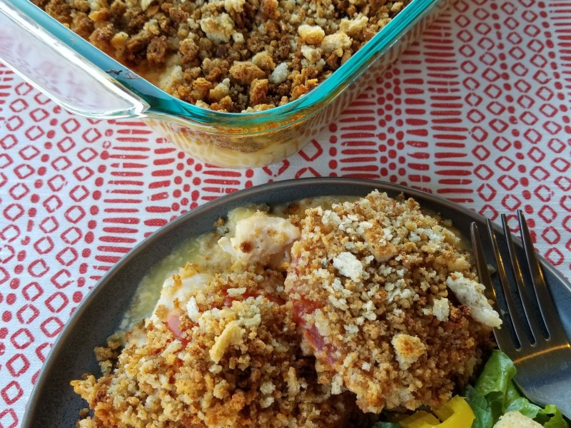 Chicken and Tomato Crumble Casserole