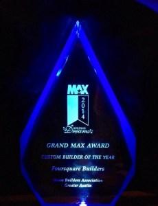 2014 Grand MAX Award - Foursquare Builders