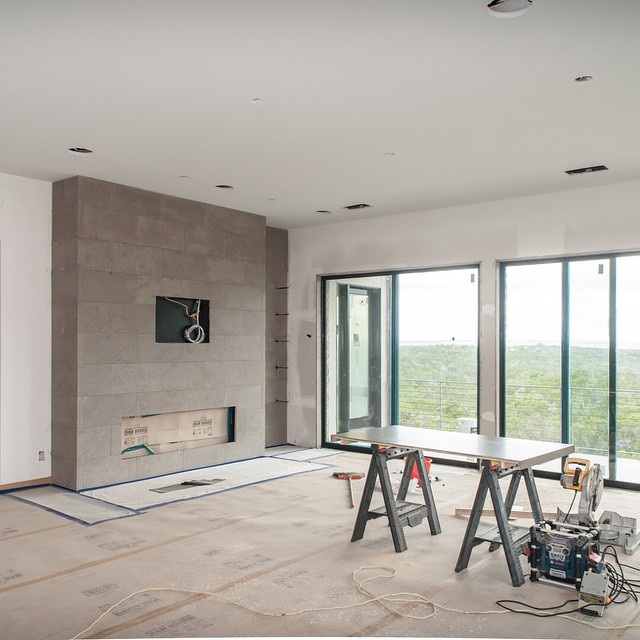 @foursquarebuilders is nearing completion of this lovely design/build project overlooking 1,000+ acre of preserve land.