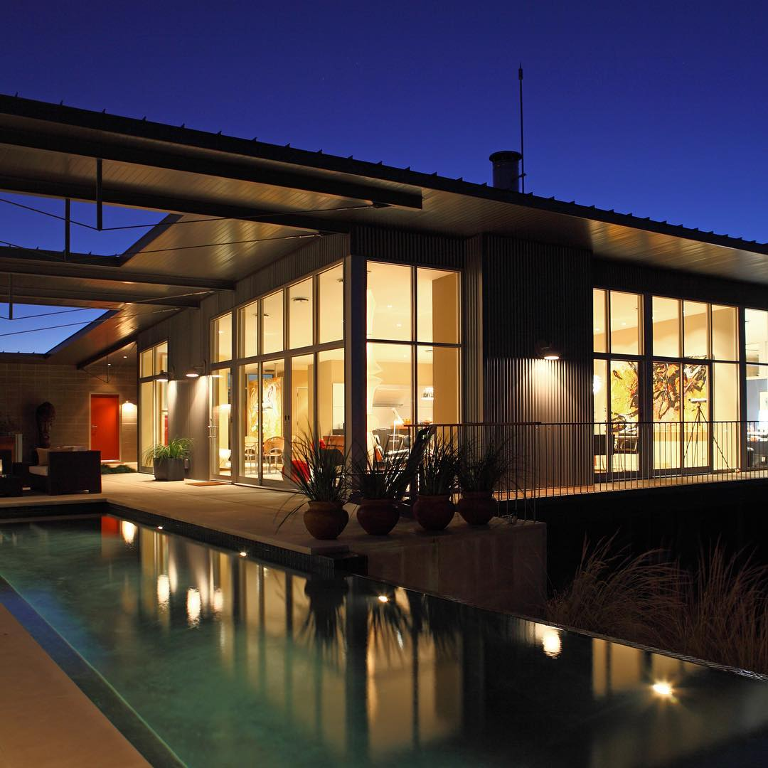 Award winning home built by @foursquarebuilders and designed by @webberstudio