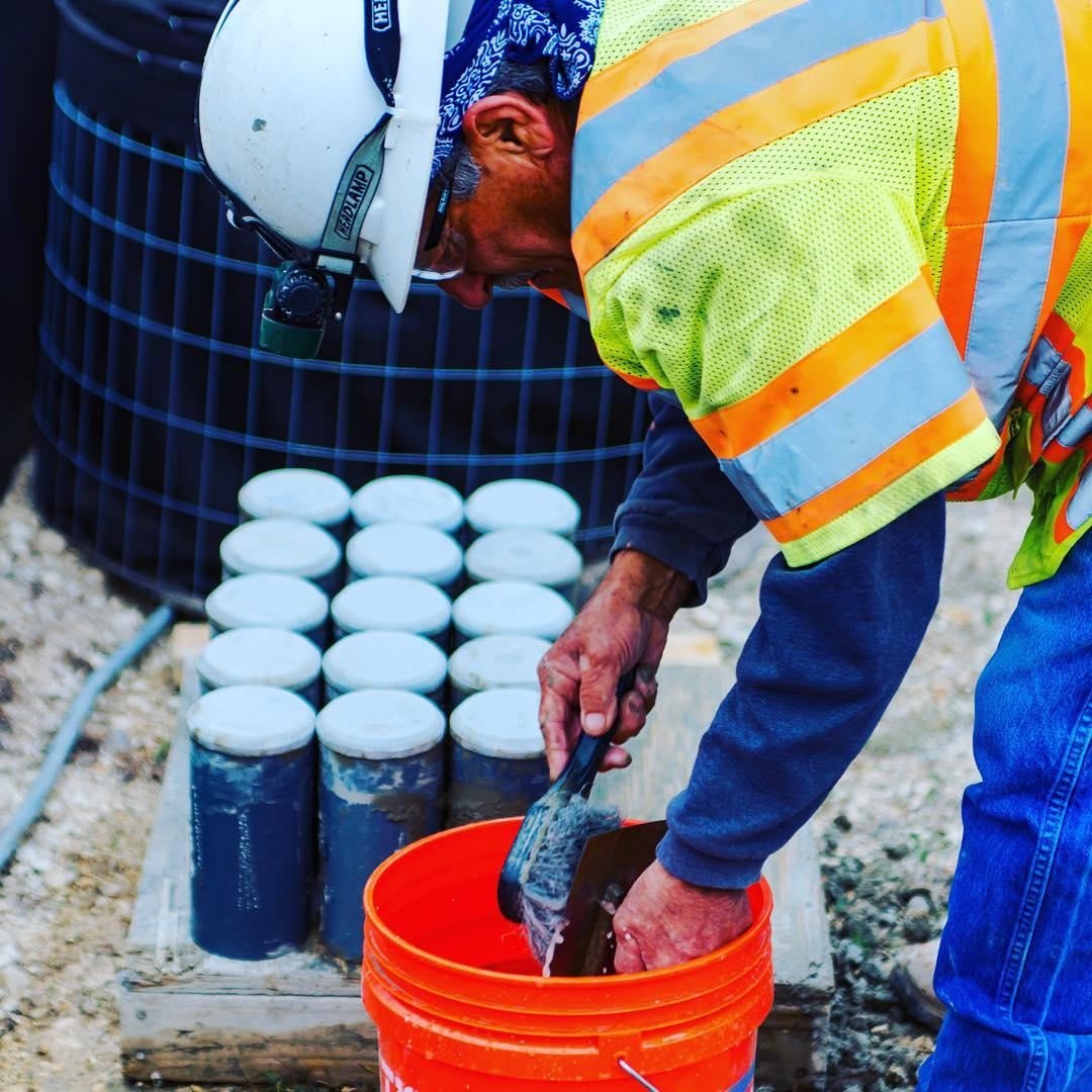 Concrete slump testing and compression break testing is standard on @foursquarebuilders builds. Design by @dc_architecture photo by @redpantsstudio