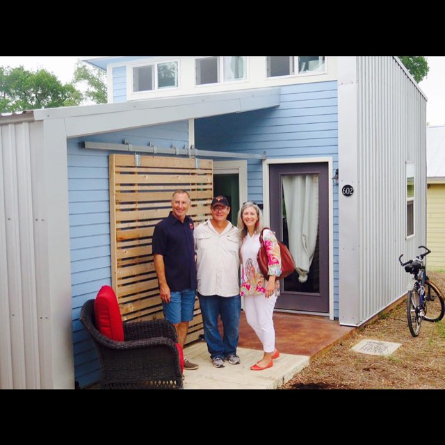 Welcoming our new friend Gary into his new micro-home at in Austin, TX. Built by @foursquarebuilders Designed by @designtrait_architecture