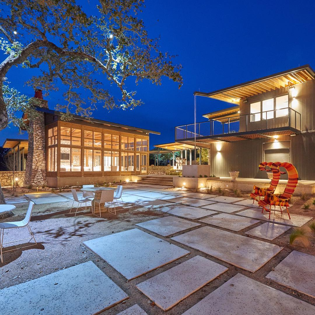 A summers evening in the Texas Hill Country. Built by @foursquarebuilders
