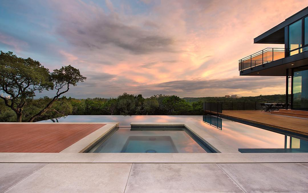 Design Ecology Built this beautiful pool for our City View home. Design by @aparallel Built by @foursquarebuilders