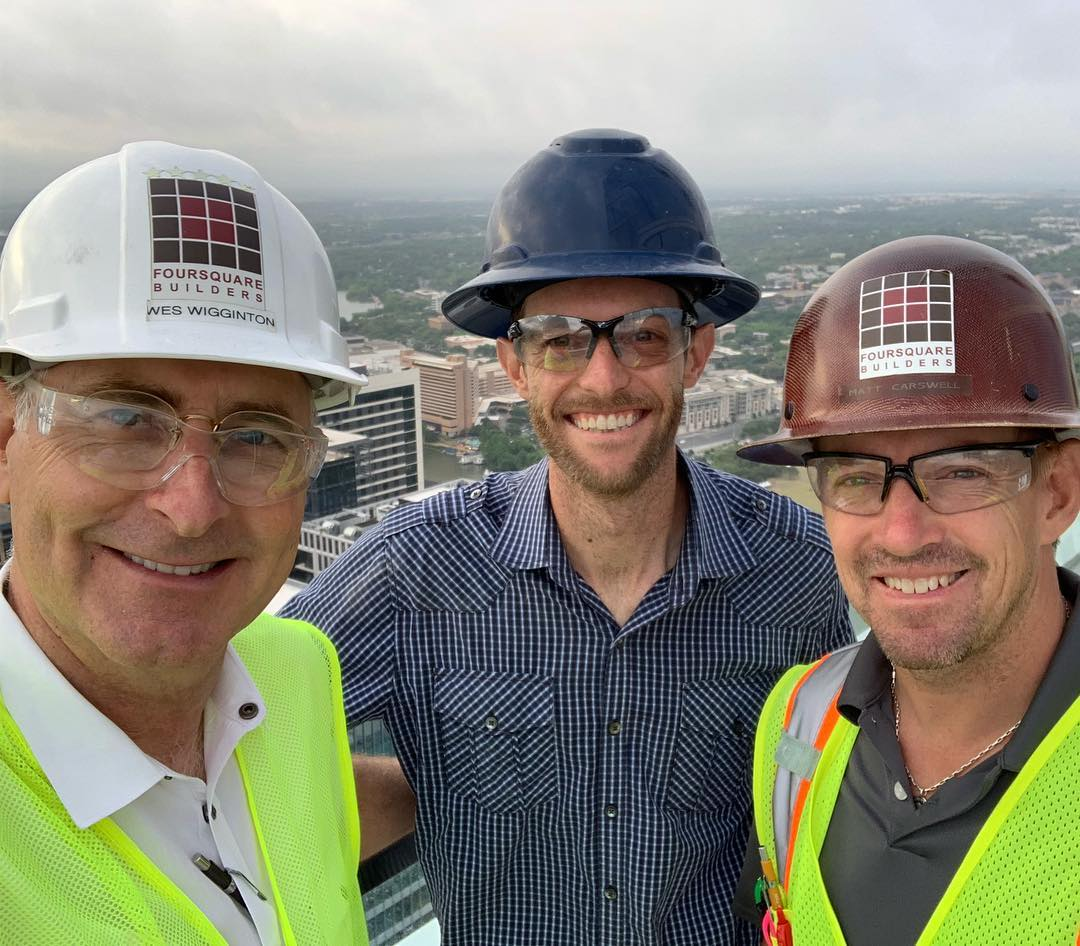 First day breaking ground, well not technically speaking since we're 52 floors above ground on our @urbanspaceinteriors at @theindependentaustin project!