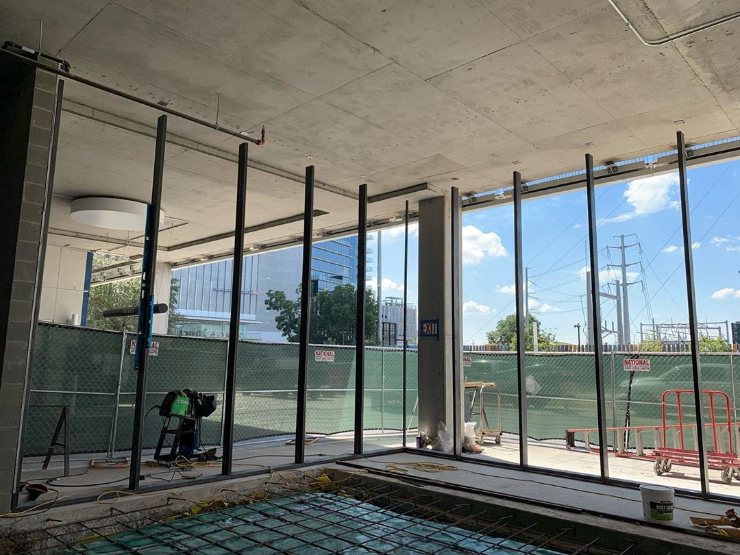 Our Commercial arm, Michael-Wes & Co. is busy installing a bespoke design and built steel window system for @urbanspaceinteriors at @theindependentaustin