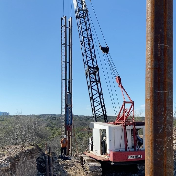 And we're still driving steel piles in San Antonio. These are for supporting our negative edge lap pool.