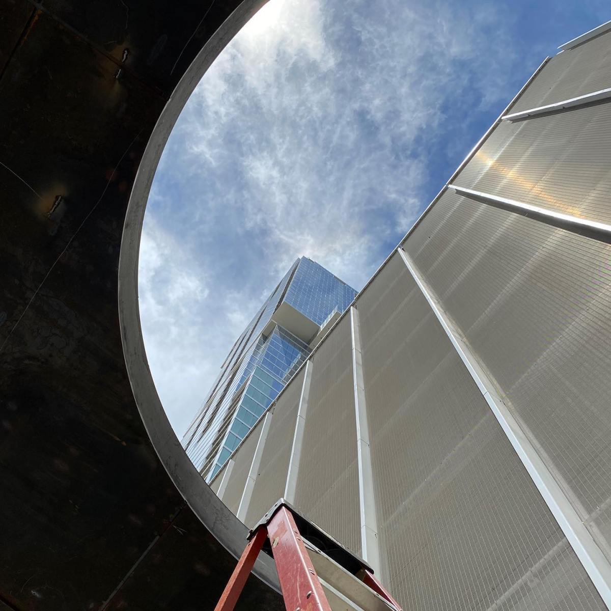 @theindependentaustin visible from the @urbanspacerealtors oculus  #design/build by @michaelwesandco