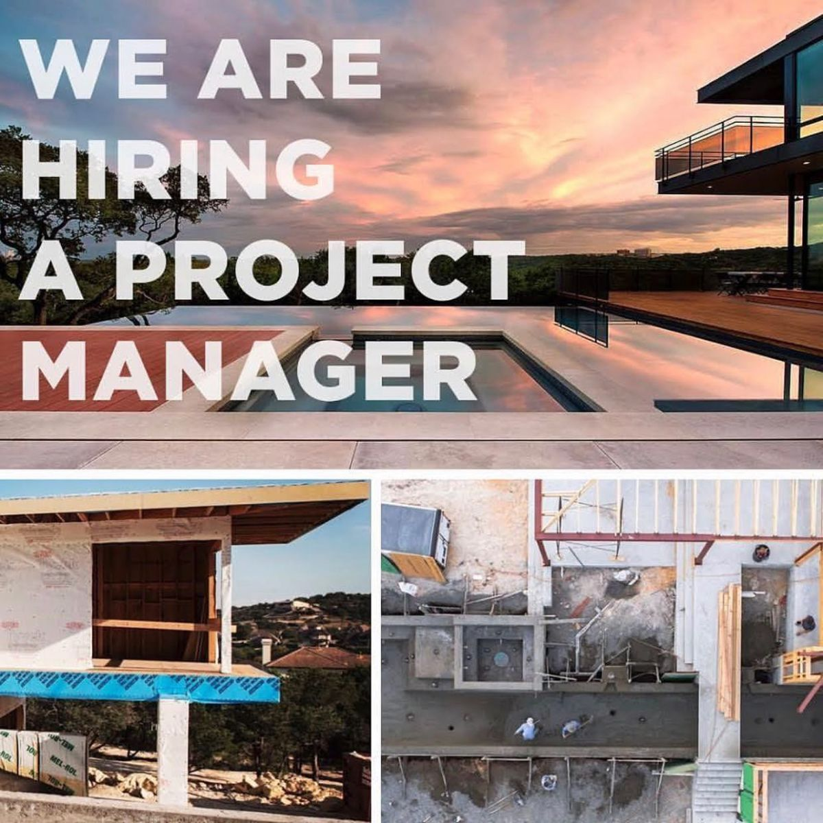 If you're a seasoned Project Manager or Superintendent then please give us a call. We have lots of great projects to build and are looking for those who want to be a part of a team of professionals.