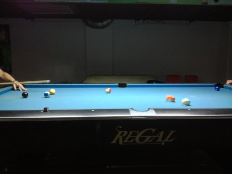 We found a great pool hall in Wuxi close to our office.
