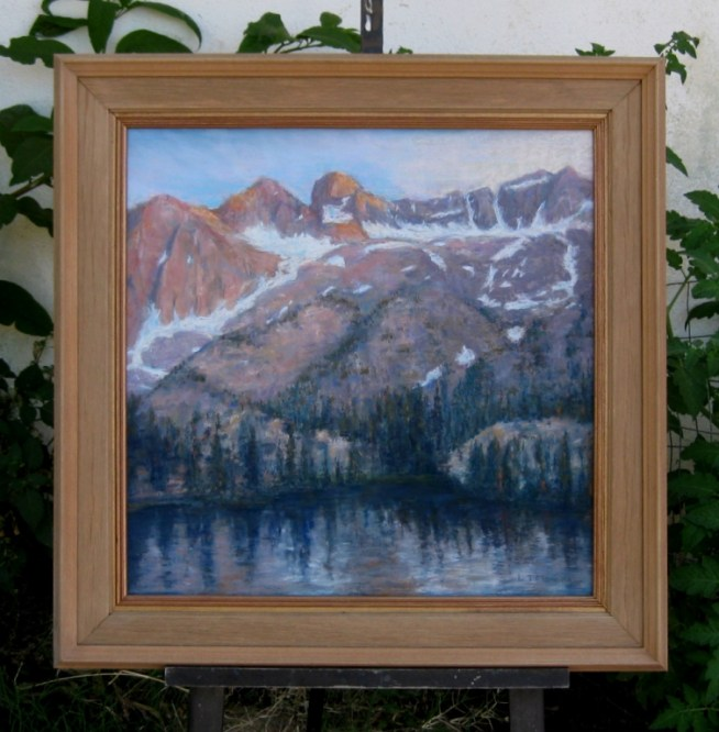 Weathered wood frame.
