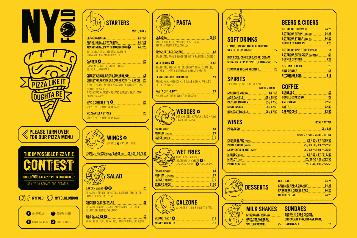 Menu Yellow Front