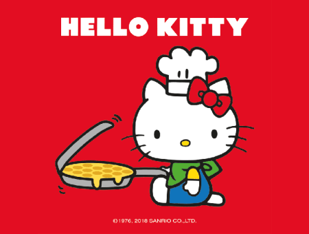 Hello Kitty Takes Over Bubblewrap Waffle
