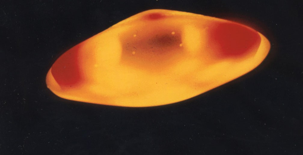 "Carlos Diaz' photograph of a ""plasma"" beamship."