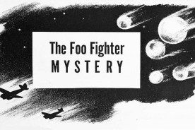 Foo Fighter UFO Mystery. Legion Magazine 1945. Art by: Raymond Creekmore