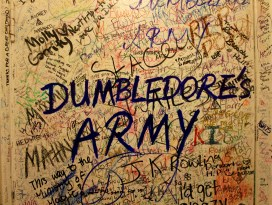 The Elephant House Cafe bathroom in Edinburgh, Scotland. Since JK Rowling wrote some of her books in this cafe, Harry Potter fans have written Rowling messages and letters inside of this bathroom.