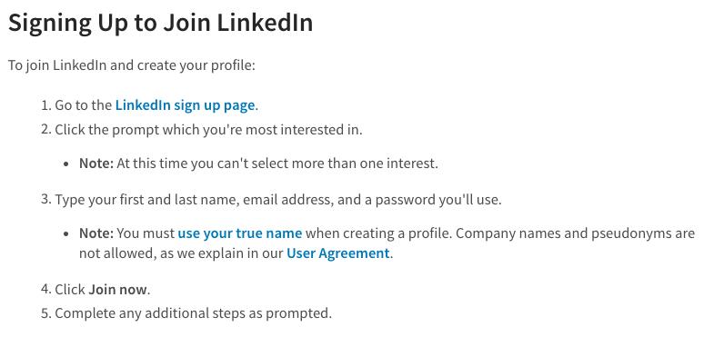 Register on LinkedIn