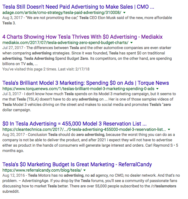 tesla-zero-advertising