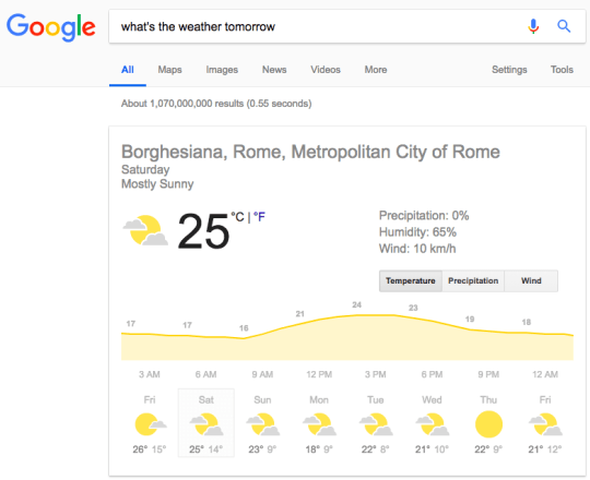 google-search-result-on-what-is-the-weather-tomorrow