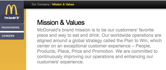 mcdonald-mission-statement