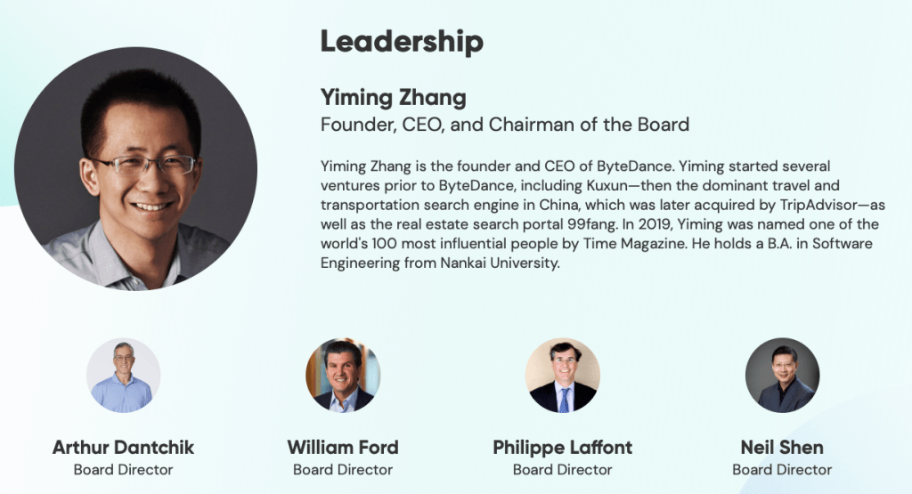 bytedance-leadership