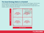What Is The Grand Strategy Matrix? The Grand Strategy Matrix In A Nutshell