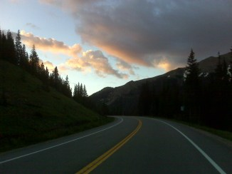 Sunrise over Cameron Pass