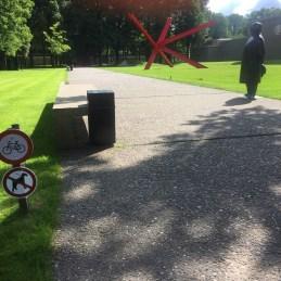 fietsen en honden verboden borden