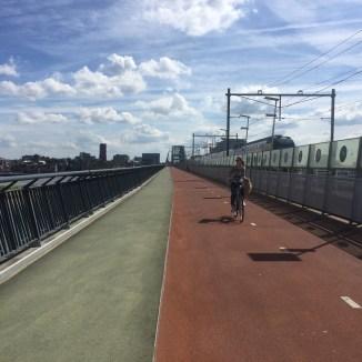 fiets- wandel- spoorbrug, Lent, Gelderland