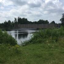 water en gras voor openlucht theater