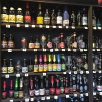 muur van bier