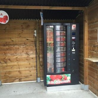 aardbeien automaat