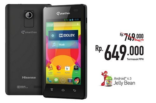 Smartphone Android 600 Ribuan dari Smartfren