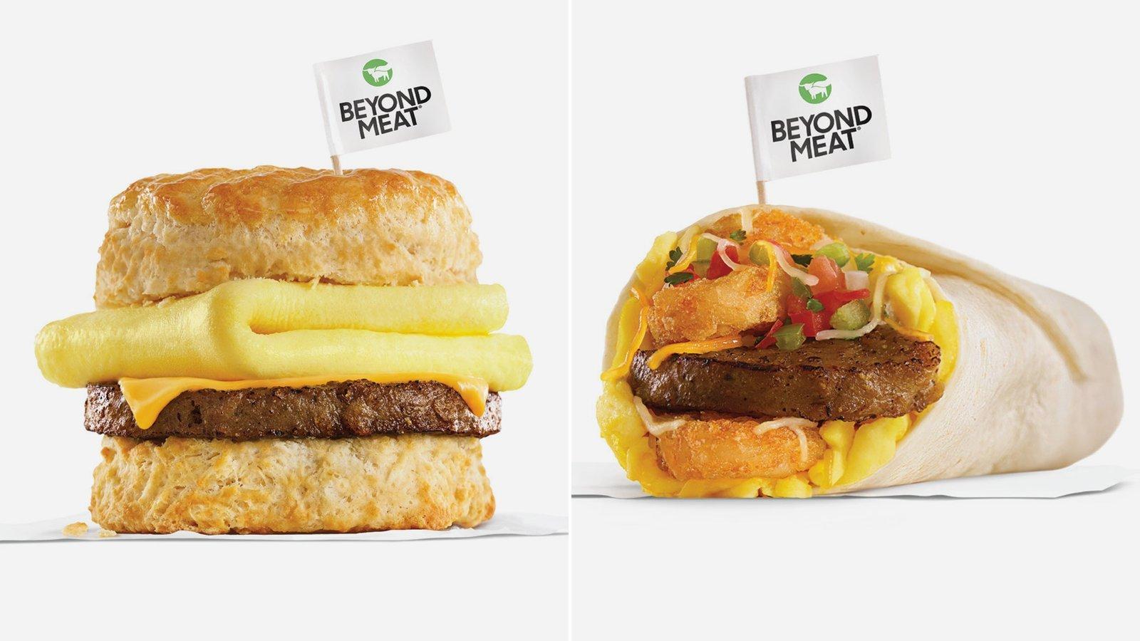 Carls Jr Beyond Meat Breakfast pictures