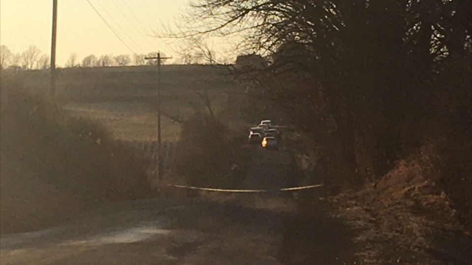 Picture of first responders on a rural road