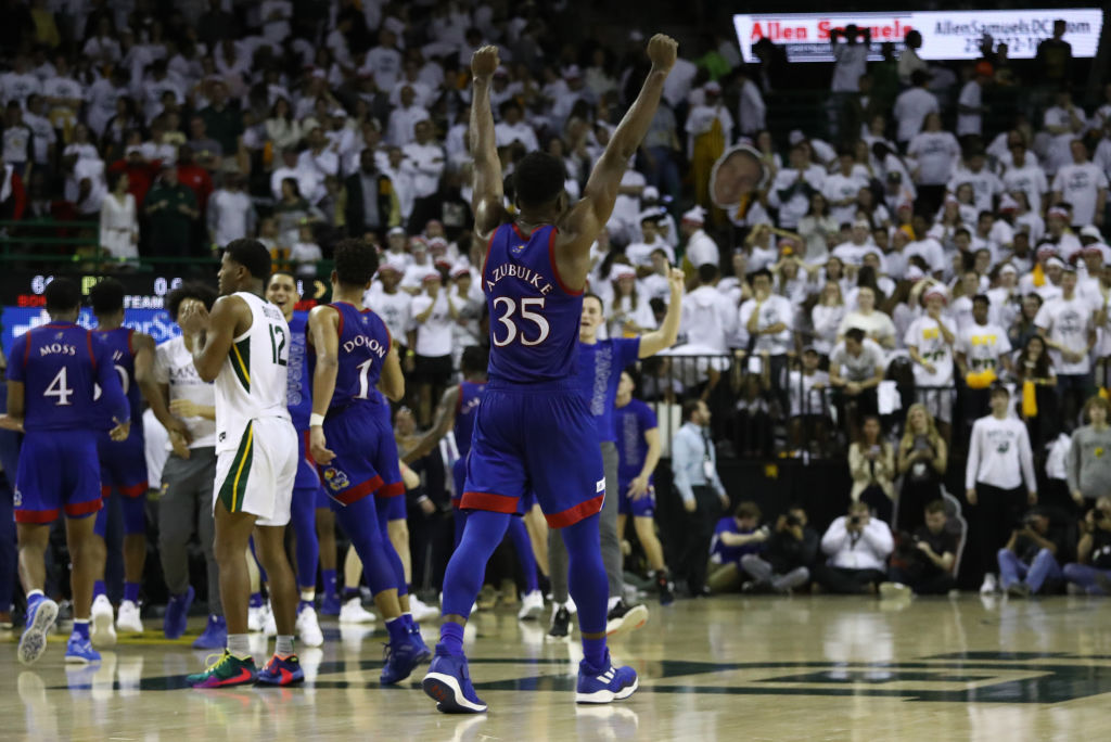 Kansas player pumps fists