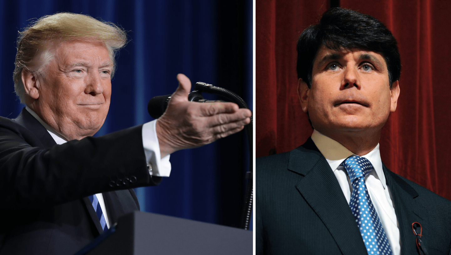 Picture of Trump and Blagojevich
